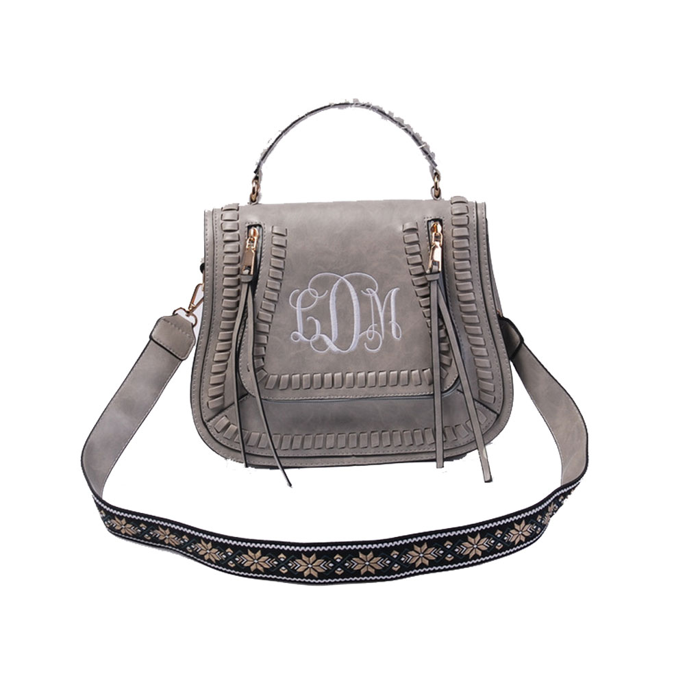f5ced466 US $29.12 6% OFF|Personalized Embroidered Guitar Straps Purse Handbag 100%  Faux Leather Perfect Quality Cross Body Bag For Women-in Shoulder Bags from  ...