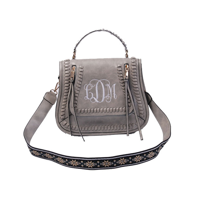 067a93f0b7 Personalized Embroidered Guitar Straps Purse Handbag 100% Faux Leather  Perfect Quality Cross Body Bag For Women