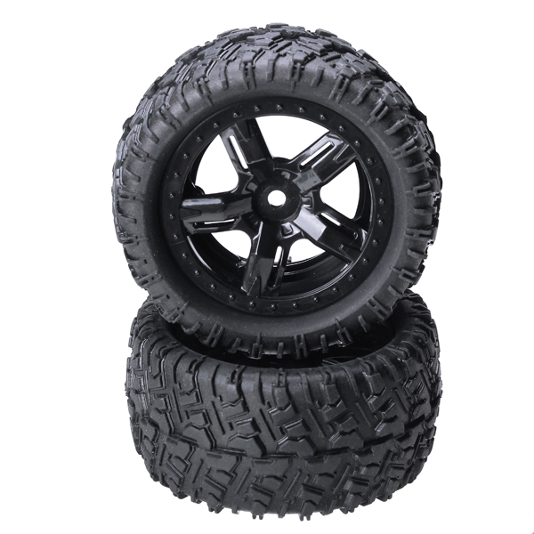 REMO 1/16 P6973 Rubber Tires Assembly For Desert Buggy Truck 4pcs 1 9 rubber tires