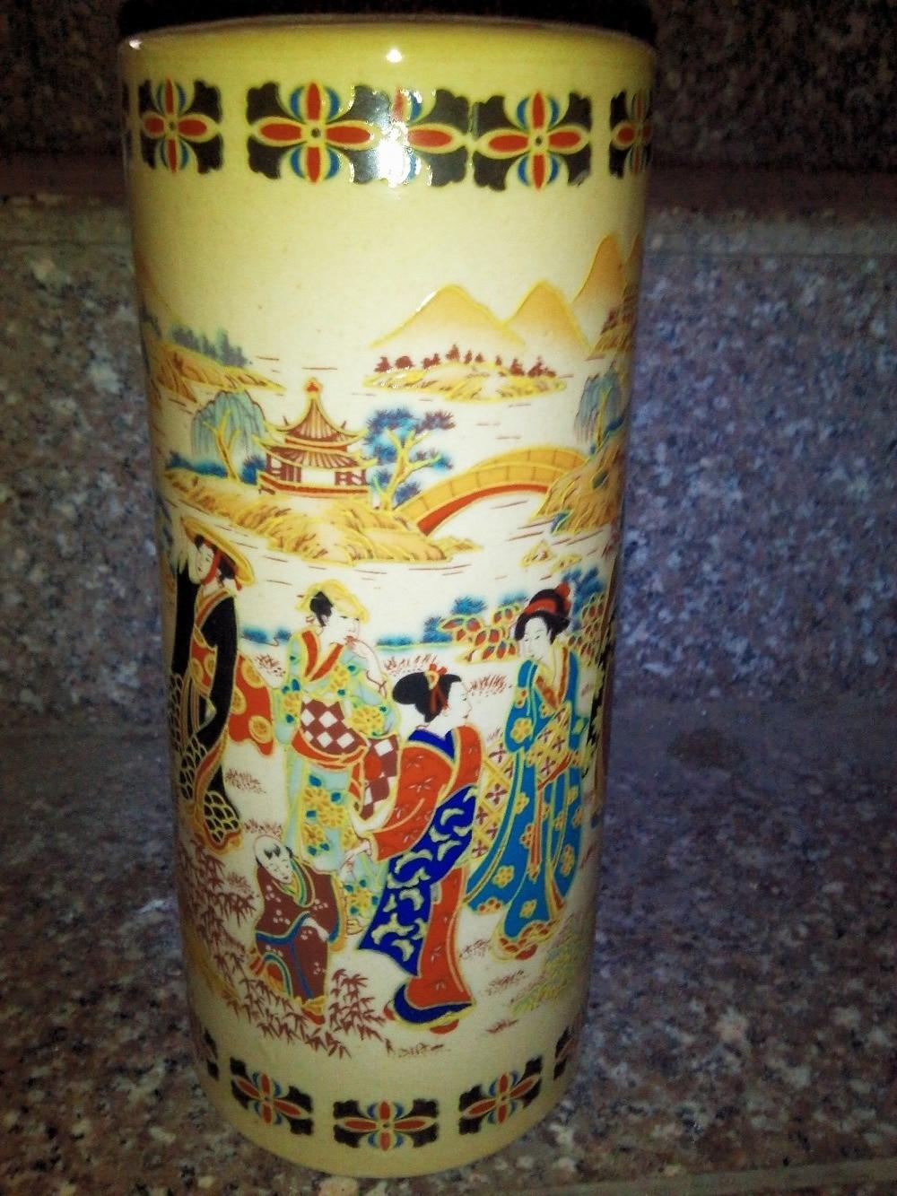 çince Antika Porselen Sır Porselen Vazo Boyama Klasik Sanat