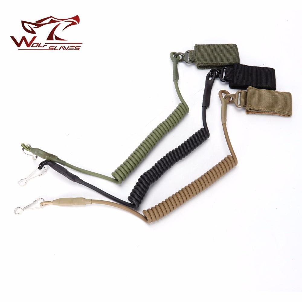 Adjustable Combat Sling Telescopic Tactical Pistol Hand Gun Secur Hand Gun Secure Lanyard Spring Strap Black Tan Army Green