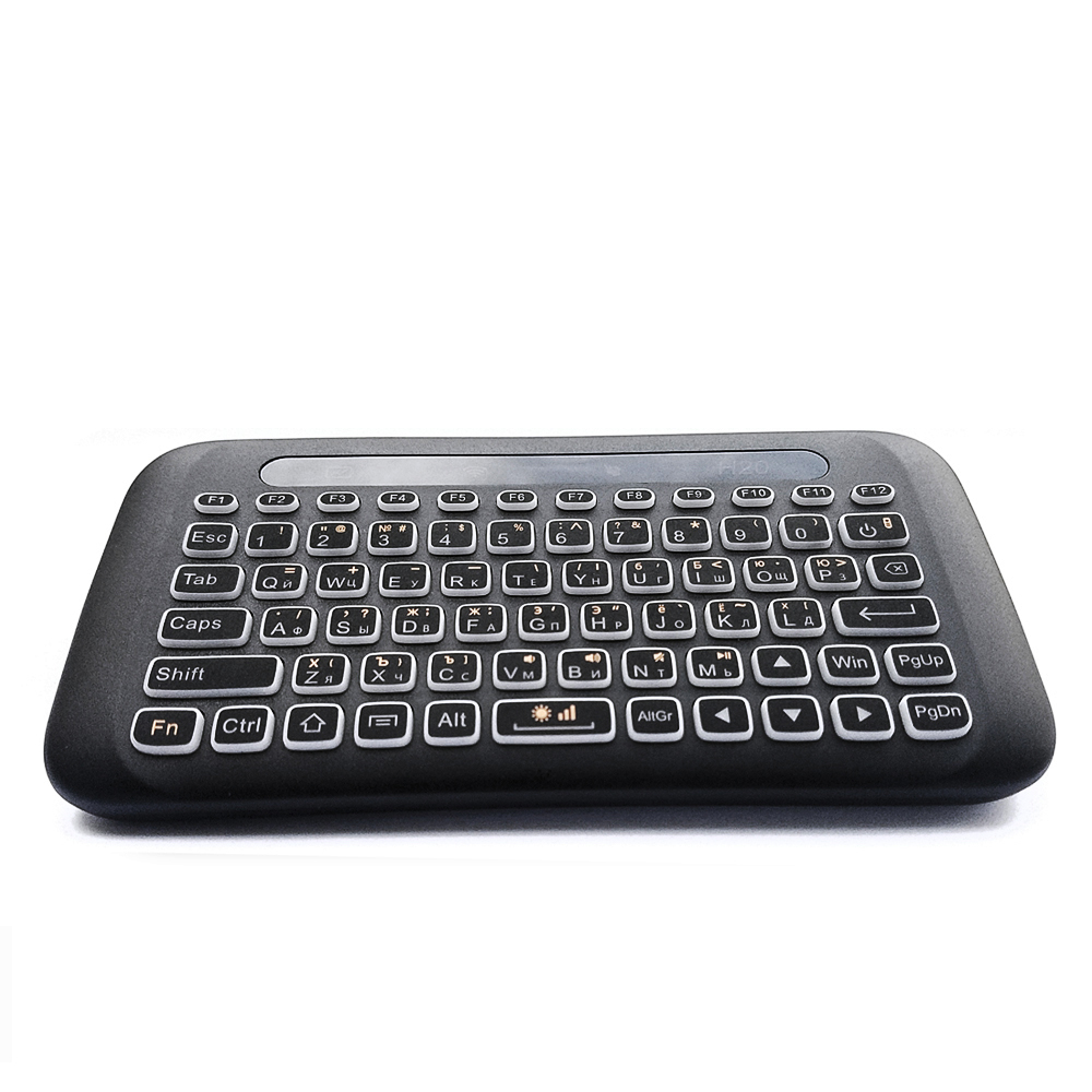 Image 2 - AVATTO Russian,English H20 Full Touchpad Backlit Mini Keyboard with 2.4G Wireless IR Remote Control for Smart TV Android Box PC-in Keyboards from Computer & Office