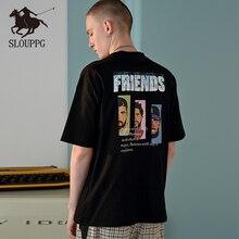 SLOUPPG hip-hop rap printing cotton T-shirt short-sleeved summer funny T shirts O neck men women fashion clothes