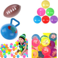 7styles Eco-Friendly Colorful Soft Plastic Water Pool Ocean Wave Ball Baby Funny Toys Stress Air Ball Outdoor Fun Sports Hot(China)