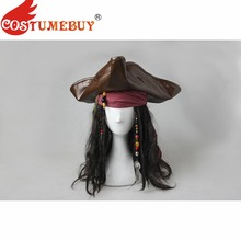 CostumeBuy de Piratas del Caribe 5 Cosplay traje sombrero Peluca de pelo  Accesorios de cabeza el capitán Jack Sparrow traje acce. dc80885c822
