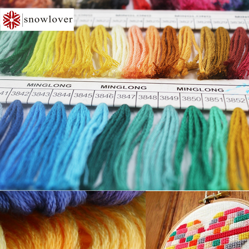 Cotton Thread Cross Stitch Floss Skeins for Sewing Craft Needlework Embroidery