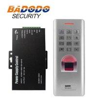 IP66 Ngoài Trời WG26 Vân Tay mật khẩu bàn phím điều khiển truy cập đầu đọc với 12 V 5A cung cấp điện FO Khóa cửa cổng Dụng cụ mở sử dụng