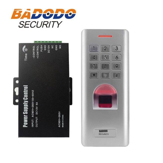 IP66 في الهواء الطلق WG26 بصمة كلمة السر لوحة المفاتيح التحكم في الوصول القارئ مع 12 فولت 5A امدادات الطاقة ل قفل الباب بوابة فتاحة استخدام
