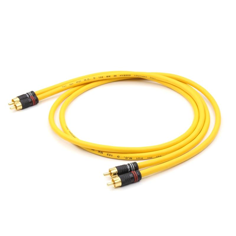 Free shipping pair Van Den Hul M.C D102 MK III Hybrid Halogen RCA interconnect Cable olga b a van den akker reproductive health psychology