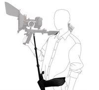 Statyw dslr obsługuje rod z paskiem stabilizator dla na ramię wideo aparat fotograficzny z kamerą DV w Akcesoria do studia fotograficznego od Elektronika użytkowa na