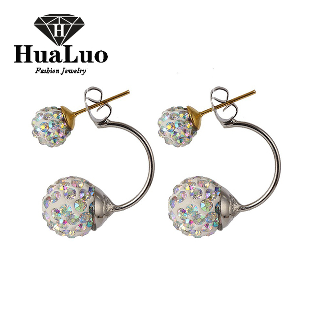High Quality Double Side Crystal  Earrings