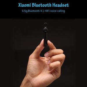 Image 4 - 100% オリジナル Xiaomi の Bluetooth ヘッドセット若者のバージョンワイヤレスイヤホンハンズフリー HD 通話 6.5 グラム 3 サイズ芽 3 ボタンマイク