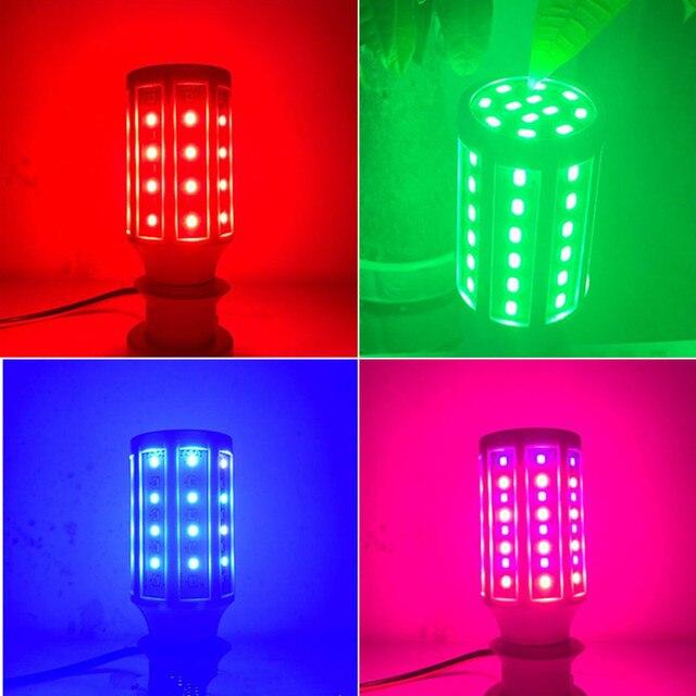 Red/Green/Blue/Pink colorful LED lamp e27 AC110V 220V 230V 240V E40 E27 5W 10W 15W 20W 25W 30W 40W 60W 80W LED corn bulb