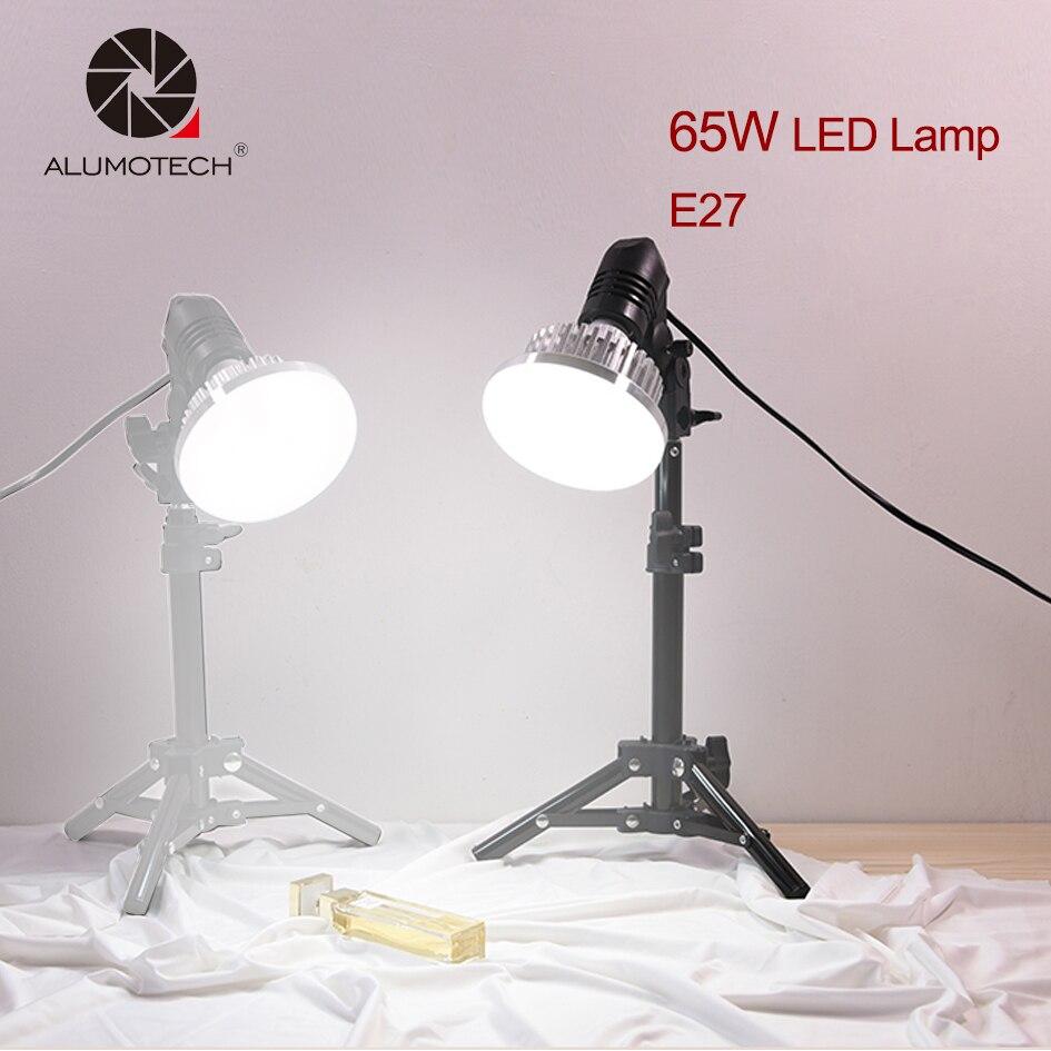 ALUMOTECH Multi-fuction Haute Puissance E27 65 w 5500 k Lumière Du Jour LED Ampoule Lampe Kit Photographie Smartphone Maison Studio vidéo Tir