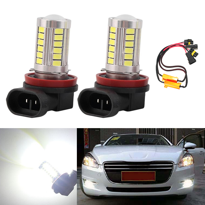 2x 9006 HB4 5630SMD LED Fog DRL Light Bulb No Error Lamp For VW Golf 6 MK6 2009-2012 T5 Transporter 2003-2016 Scirocco 08-on