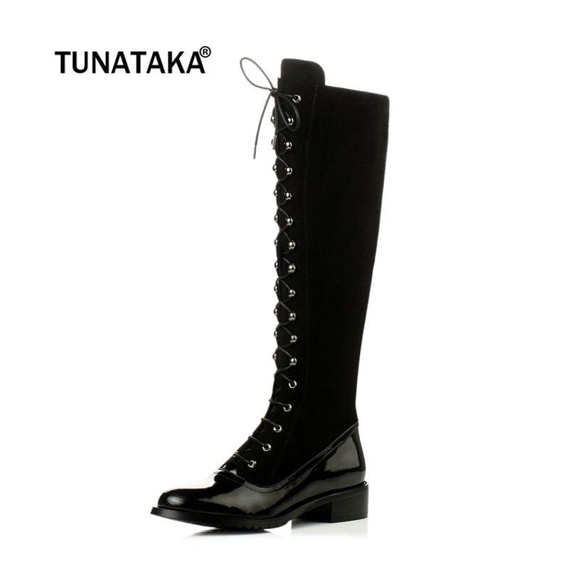 d217d05c7163cf 2018-New-Suede-Platforma-Low-Heel-Knee-High-Boots-Fashion -Side-Zip-Lace-Up-Combat-Boots.jpg