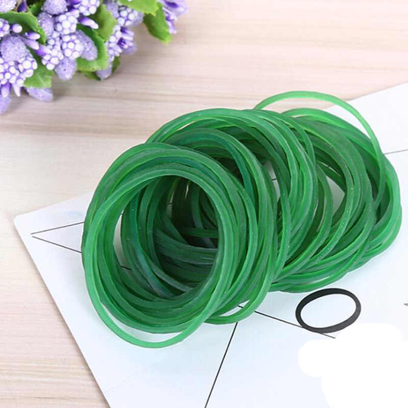 New 500pcs Green Colors Rubber Bands 40mm Rubber Rings School Package Desk Accessories