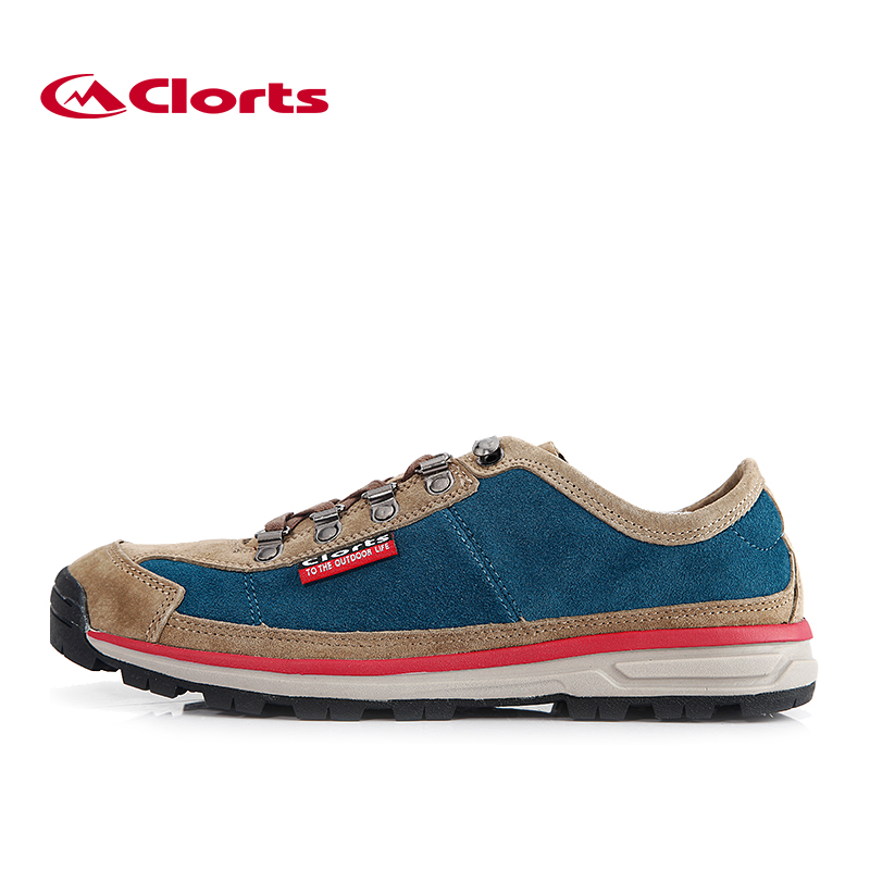 ФОТО 2016 Clorts Men Canvas Shoes 3G020A/D Breathable Lycra Rubber Hiking Shoes for Men Suede Outdoor Anti-slipping Sport Sneakers