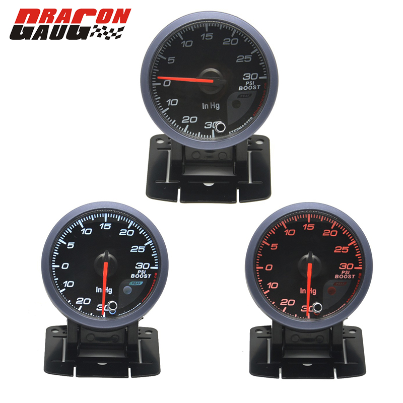 2.5/'/' 60mm Car Step Motor LED Turbo Boost Gauge Vacuum Press Pressure PSI Sensor