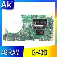 AK S551LA 노트북 마더 보드 For Asus S551LA S551LB S551LN S551L R553L S551 테스트 오리지널 메인 보드 4G RAM I3-4010