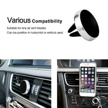 Magnetic Air Vent Mount Mini Car Phone Holder for apple iphone ipad ipod
