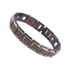 Copper Pure Row 4 Elements Magnetic Link Therapy Health Bracelet for Arthritis