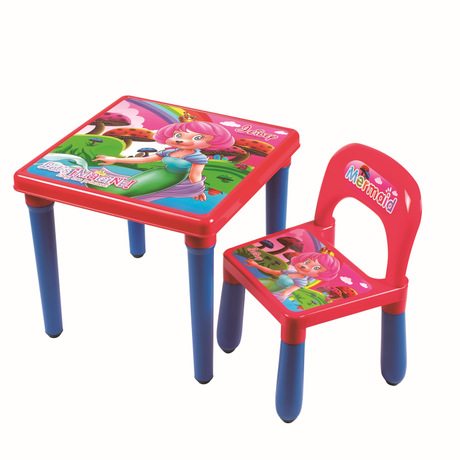 Plastic kids Furniture Sets kids Chair + study table sets wholesale hot new good price quality 2018 fashion