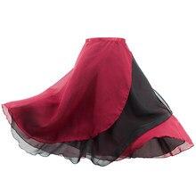 Saia elástica feminina de chiffon, saia longa envoltório para balé com 2 camadas para dança
