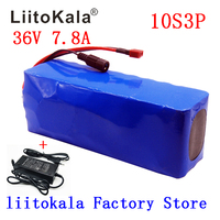 Tüketici Elektroniği'ten Pil Paetleri'de LiitoKala 36V 7.8Ah 10S3P 18650 şarj edilebilir pil paketi  modifiye Bisiklet  elektrikli araç 36V Koruma PCB + 2A Şarj Cihazı