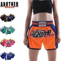 2019 Boxing short muay thai fightwear blue and red star custom muay thai shorts men and women MMA shorts drop shipping