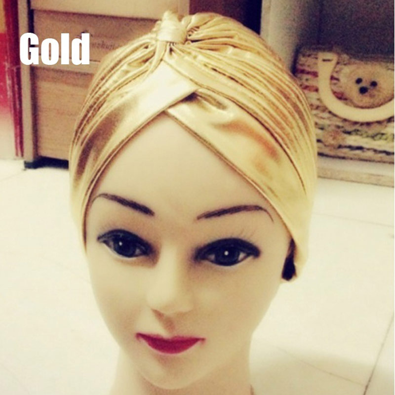 Fashion Leopard Gold Turban Chemo Hair Head Wrap Cap Bath Cap New FS99
