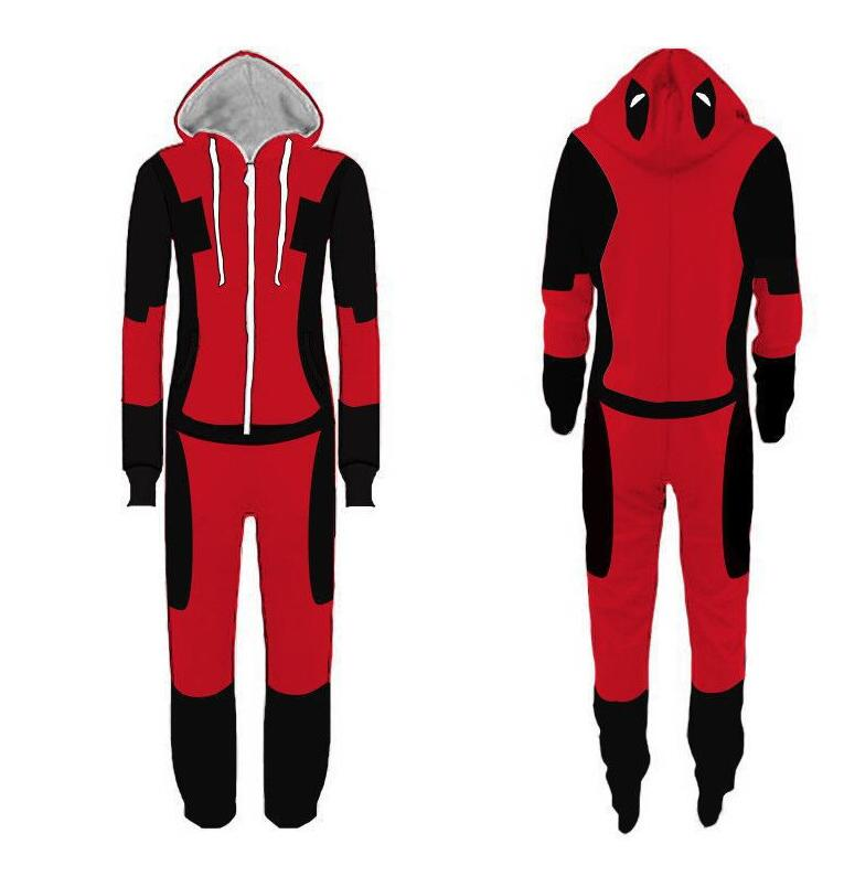 New Deadpool Spiderman Homecoming Pajamas Adult Cartoon Flash man Jumpsuit Pyjamas Deadpool onesie Pajamas Cosplay Costume