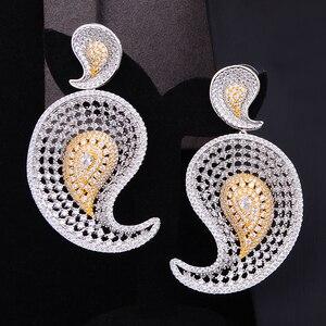 Image 4 - GODKI Luxus Wasser Tropfen 4 stücke Afrikanische Cubic Zirkon CZ Nigerian Schmuck sets Für Frauen Hochzeit Dubai Gold Braut Schmuck set 2019
