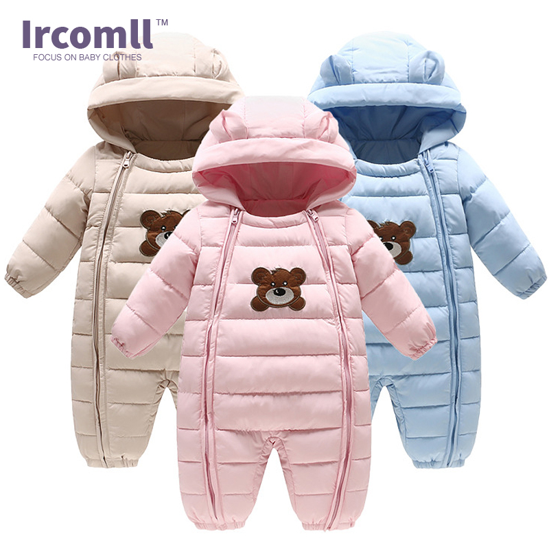 Ircomll 2017 Winter New Baby Bodysuits one-pieces Boys Grils Clothes Long Sleeve Hooded Infant Clothing Kids Newborn Outwear mother nest 3sets lot wholesale autumn toddle girl long sleeve baby clothing one piece boys baby pajamas infant clothes rompers