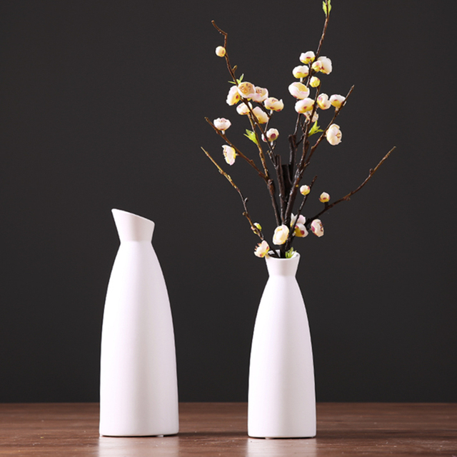Ceramic Flower Vase Handcraft Japanese Ikebana Flower Vase Home