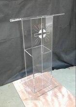 Christian Church Supplies Church lectern concierge desk conference table lectern Acrylic rostrum sermon station
