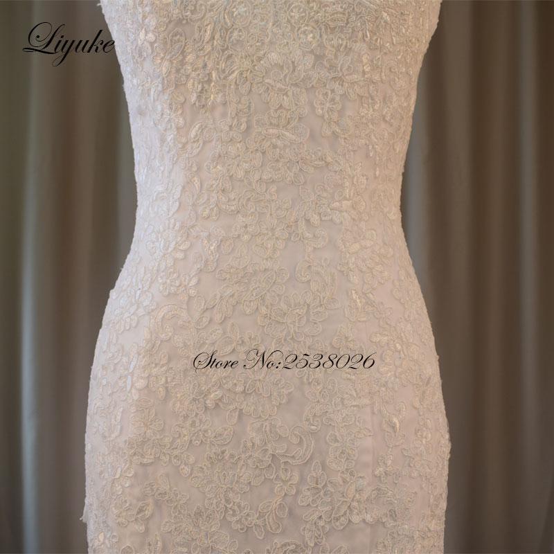 Liyuke Elegantní miláčik výstřih Kvalitní mořská panna - Svatební šaty - Fotografie 4