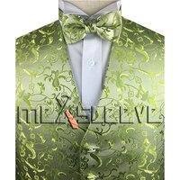 الأزياء التبعي مخصص تصميم الفضة سهرة سترة + ربطة
