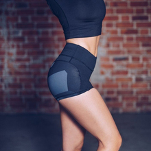 Women Summer Sport Shorts Sexy High Waist Elastic Skinny Yoga Camo Patchwork Ladies Soft Comfort Slim Short