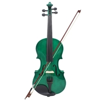 4/4 Full Size Acoustic Violin Fiddle Green With Case Bow Rosin Violin