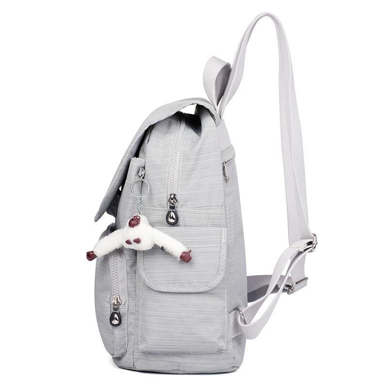 Décontracté Original femmes sacs pour femmes sacs à dos sacoche pour ordinateurs portable pour adolescentes mochila feminina avec singe porte-clés - 5