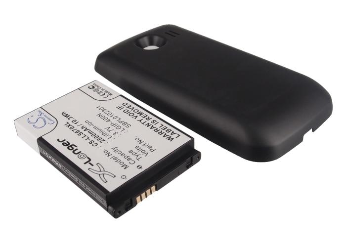 Extended 2800mAh Battery For LG LS670,Optimus S ( P/N LGIP-400N,SBPL0102301 )