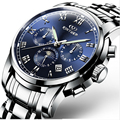 Original KINYUED Men's Mechanical Men's Watches Brand De Luxe Complete Waterproof Steel 100 m Company Automatic Men's Watches