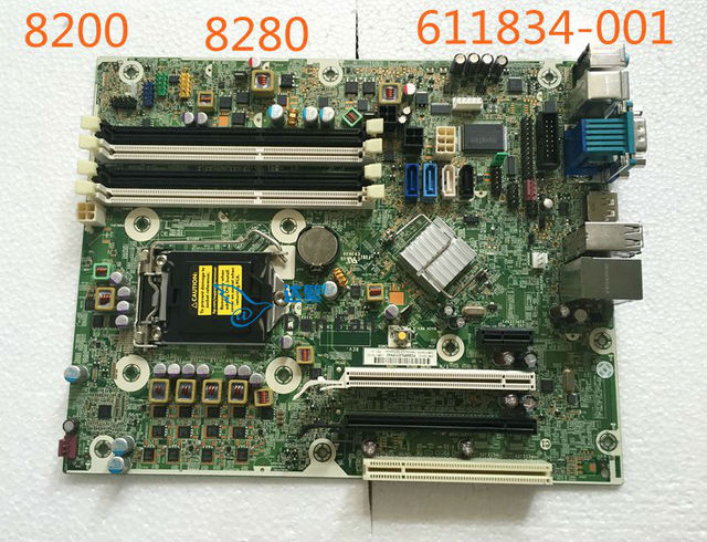 US $49 4 5% OFF|611834 001 For HP Compaq 8200 8280 Desktop Motherboard  611793 002 611794 000 LGA1155 Mainboard 100%tested fully work -in  Motherboards