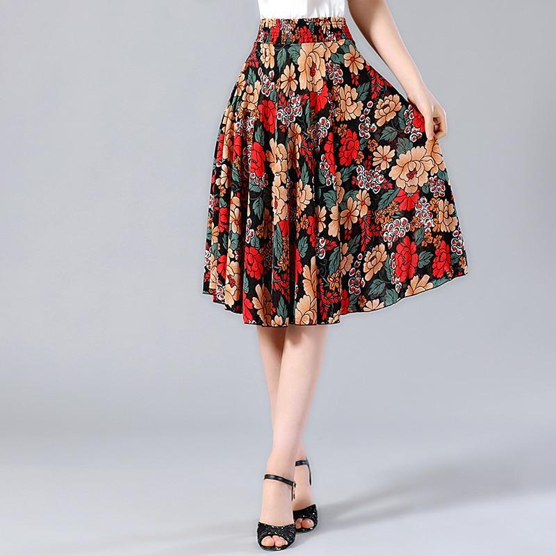 875137de7e011 Aliexpress.com : Buy 2019 Summer Pleated skirt wear Knee Length ...