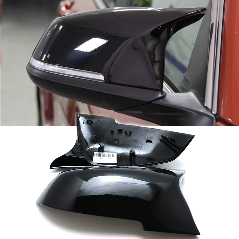 Replacement black color M3 M4 Look Rear View Mirror Cover Caps shell for BMW 3 Series F30 F31 320i 328i 330i 335i Sedan Touring car styling rear seat air conditioning vents decoration frame cover trim stickers accessories for bmw f30 3 series gt 320i 328i