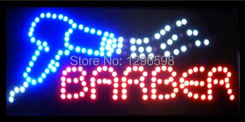 CHENXI Special Offer Hot Sale Graphics 15mm indoor 15.5X27.5 Inch barber Beauty Business Shop Led Ultra Bright SIGN