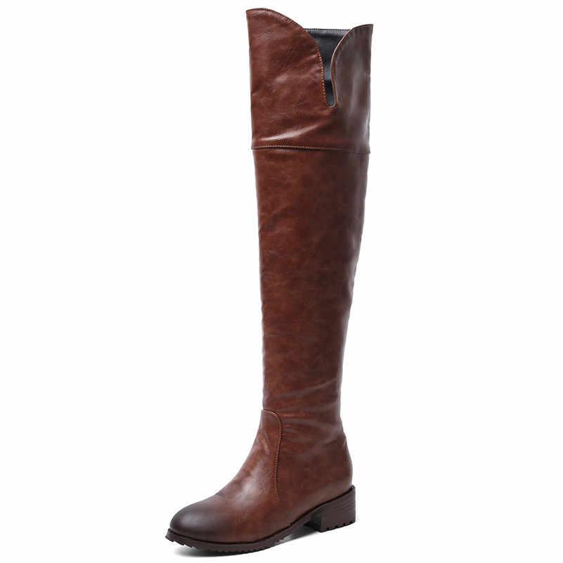 FEDONAS 2020 Sonbahar Kış sıcak Uzun Çizmeler Mikrofiber Deri Kadın Diz Çizmeler Üzerinde Fermuar Yüksek Topuklu Gece Kulübü Ayakkabı kadın