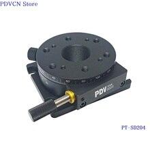 PT SD204 R AxisManual Della Fase di Rotazione, Manuale Rotary Stage, Piattaforma Rotante Diametro 73 millimetri della fase di rotazione