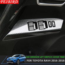 Maniglia interna Della Porta Pannello Surround Finestra Interruttore di Sollevamento Della Copertura Kit di Accessori di Assetto Per Toyota Rav4 Rav 4 2016 2017 2018